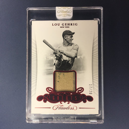 2018 Flawless LOU GEHRIG Greats Patch Ruby /20-Cherry Collectables