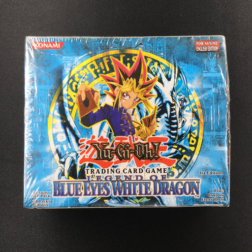 2002 Yu-Gi-Oh! AUS PRINT Legend of Blue-Eyes White Dragon 1st Edition Booster Box-Cherry Collectables