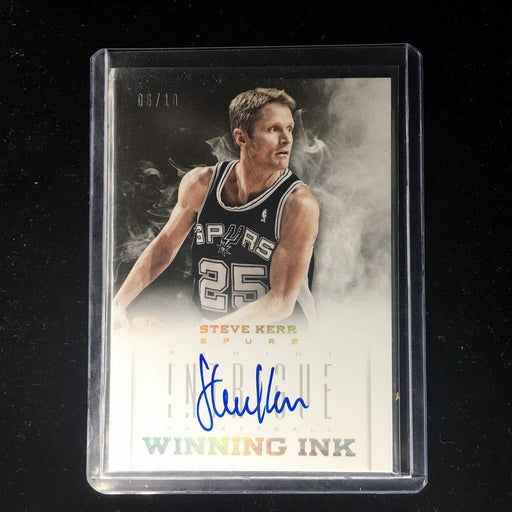 12-13 Intrigue STEVE KERR Winning Ink Gold Auto /10-Cherry Collectables