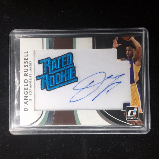 15-16 Donruss D'ANGELO RUSSELL RC Rated Rookie Patch Auto #13-Cherry Collectables