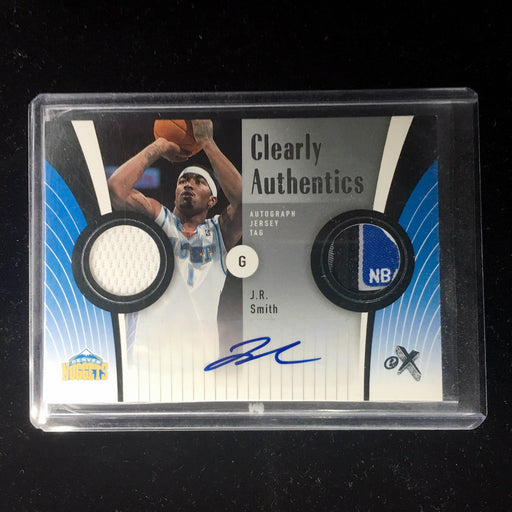 06-07 Fleer eX JR SMITH Clearly Authentic Tag Auto 9/10-Cherry Collectables