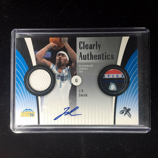06-07 Fleer eX JR SMITH Clearly Authentic Tag Auto 2/10-Cherry Collectables