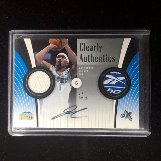 06-07 Fleer eX JR SMITH Clearly Authentic Tag Auto 6/10-Cherry Collectables
