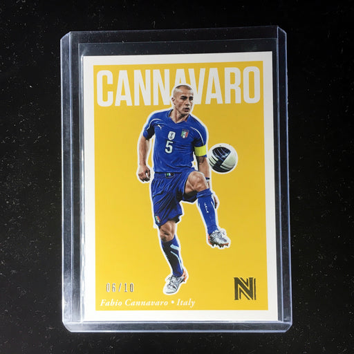 2017 Nobility FABIO CANNAVARO Italy Gold /10 #49-Cherry Collectables