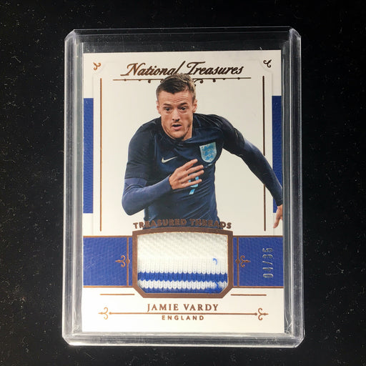 2018 National Treasures JAMIE VARDY Treasured Threads Patch Bronze /35-Cherry Collectables