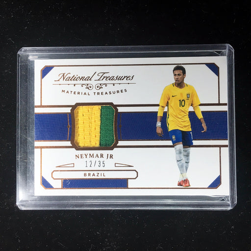 2018 National Treasures NEYMAR JR Material Treasures Patch Bronze /35-Cherry Collectables