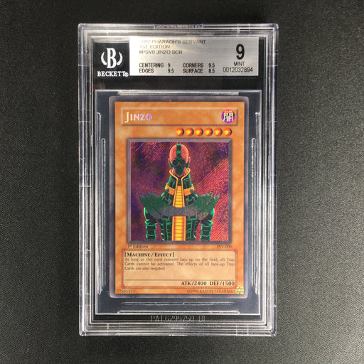 Jinzo - PSV-000 - Secret Rare 1st Edition - BGS 9 MINT-Cherry Collectables