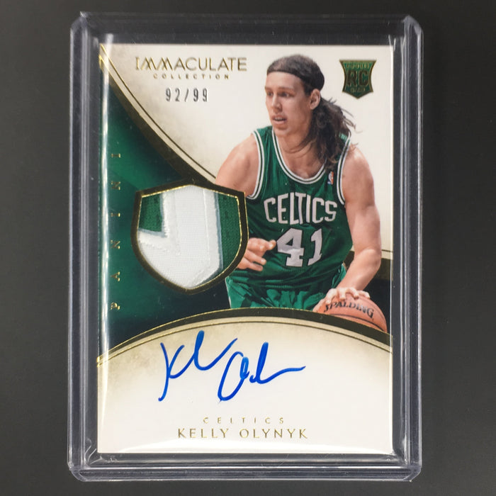 13-14 Immaculate KELLY OLYNYK Rookie Patch Autp RPA /99-Cherry Collectables