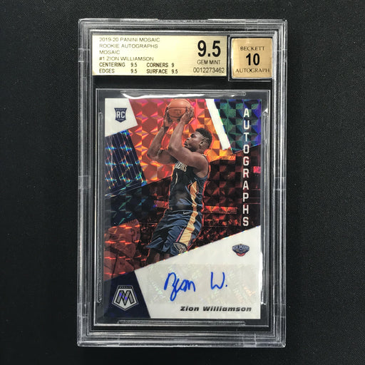 2019-20 Mosaic ZION WILLIAMSON Choice Rookie Auto BGS 9.5/10-Cherry Collectables