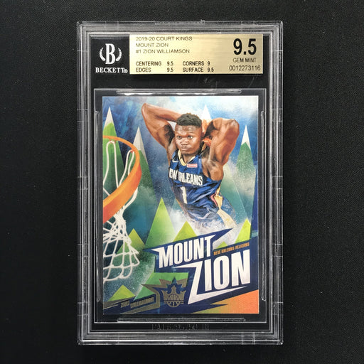 2019-20 Court Kings ZION WILLIAMSON Mount Zion BGS 9.5 SSP-Cherry Collectables