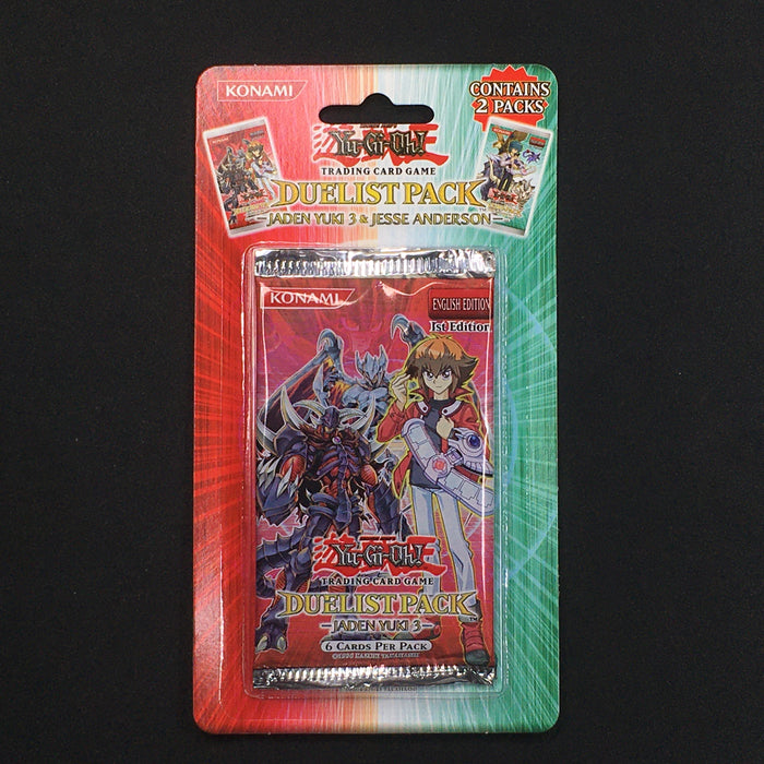 Yu-Gi-Oh! 2007 Duelist Pack: Jaden Yuki 3 & Jesse Anderson Blister Pack-Cherry Collectables