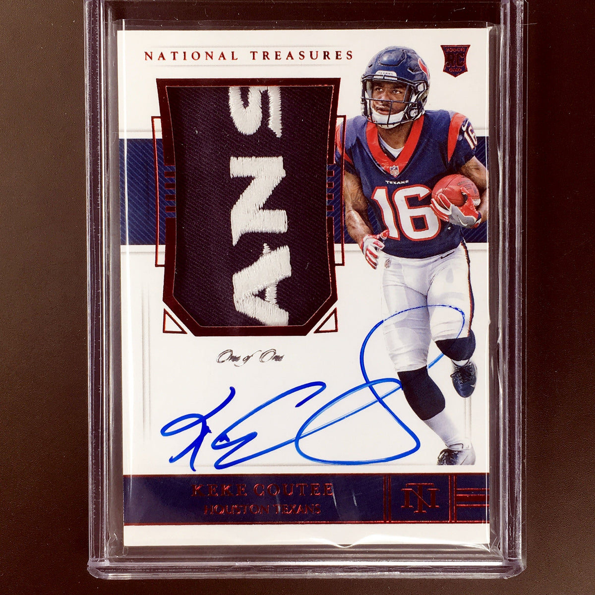 huge discount ded11 7d36c 2018 National Treasures KEKE COUTEE Rookie Patch Auto 1/1 Texans Patch RPA