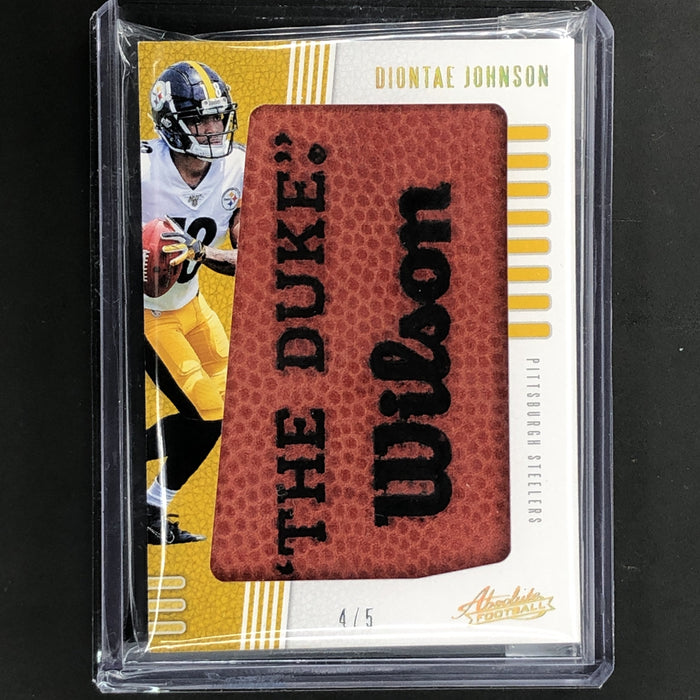 2019 Absolute DIONTAE JOHNSON Jumbo Ball Patch 4/5-Cherry Collectables
