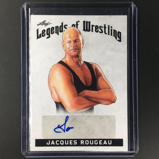2018 Leaf Legends Of Wrestling JACQUES ROUGEAU Auto #LW-JR1-Cherry Collectables