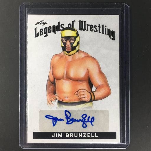 2018 Leaf Legends Of Wrestling JIM BRUNZELL Auto #LW-JB1-Cherry Collectables