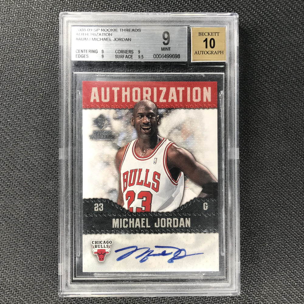2008-09 SP Rookie Threads MICHAEL JORDAN Authorization Auto BGS 9/10-Cherry Collectables