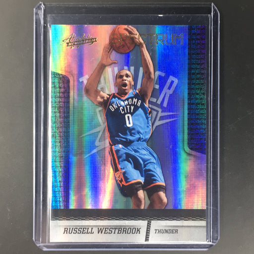 09-10 Absolute RUSSELL WESTBROOK Spectrum Holo 18/100-Cherry Collectables