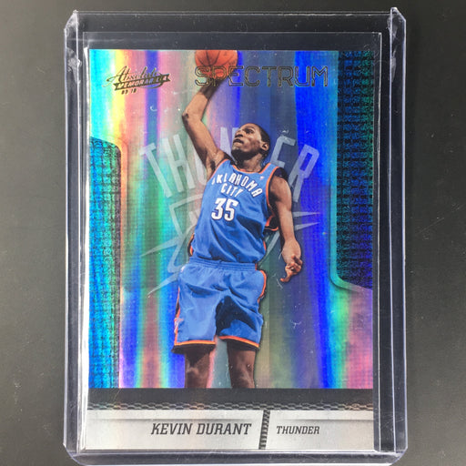 09-10 Absolute KEVIN DURANT Spectrum Holo 88/100-Cherry Collectables
