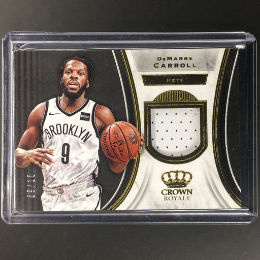 18-19 Crown Royale DEMARRE CARROLL Prime Patch 9/10-Cherry Collectables