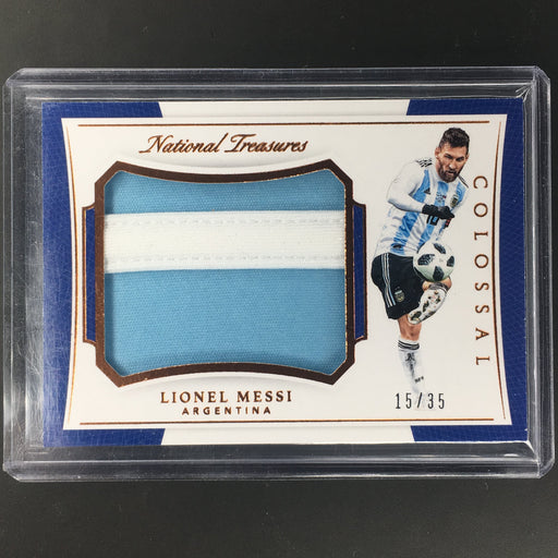 2018 National Treasures LIONEL MESSI Jumbo Patch Bronze 15/35 Argentina Colossal-Cherry Collectables
