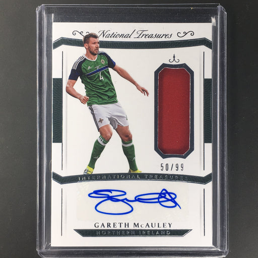 2018 National Treasures GARETH MCAULEY Jersey Auto 50/99 International-Cherry Collectables