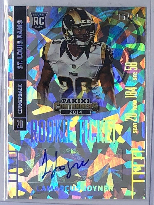 2014 Contenders LAMARCUS JOYNER Rookie Ticket Auto Cracked Ice 15/22-Cherry Collectables