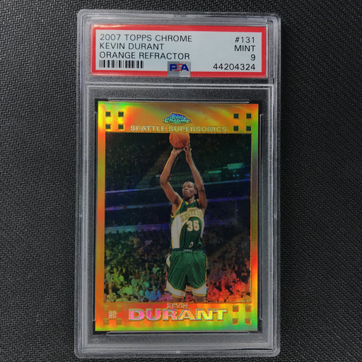 2007-08 Topps Chrome KEVIN DURANT Rookie Refractor Orange 60/199 PSA 9-Cherry Collectables