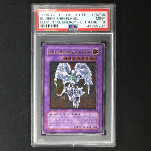 PSA 9 MINT Elemental Hero Shining Flare Wingman - EEN-EN036 - 1st Edition Ultimate-Cherry Collectables