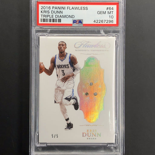 2016-17 Flawless KRIS DUNN Rookie Triple Diamond 5/5 PSA 10-Cherry Collectables