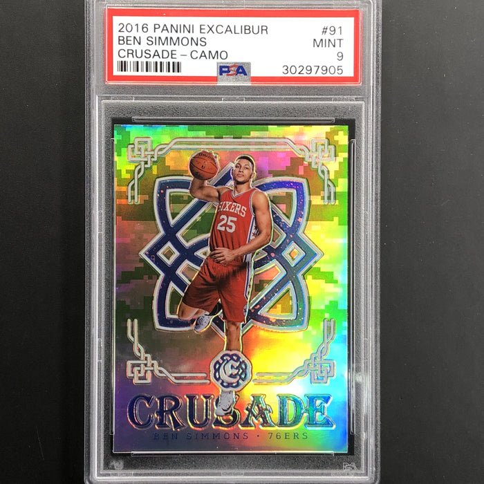 2016-17 Crusade BEN SIMMONS Camo Rookie PSA 9 #91 - 1-Cherry Collectables