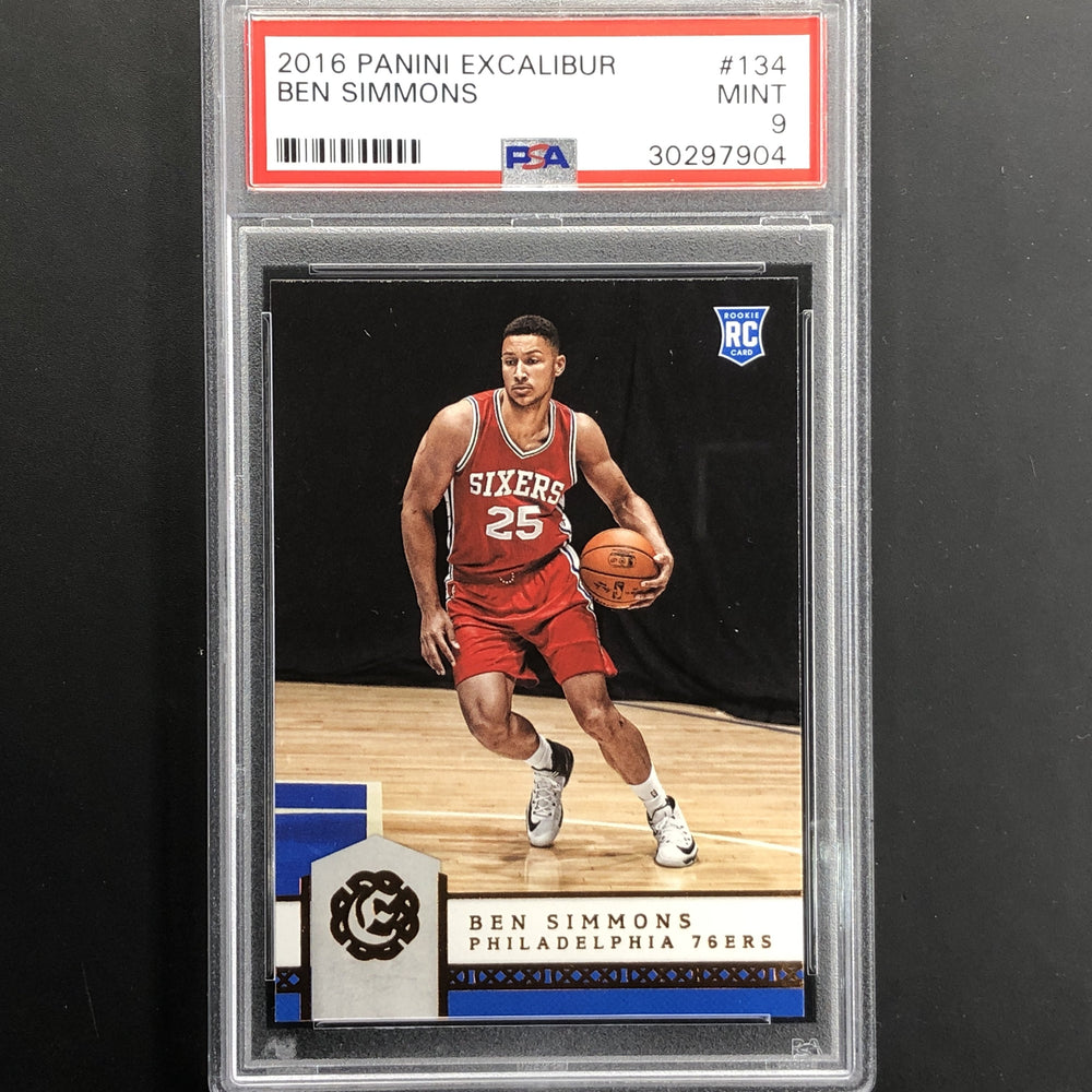 2016-17 Excalibur BEN SIMMONS Rookie PSA 9 #134-Cherry Collectables