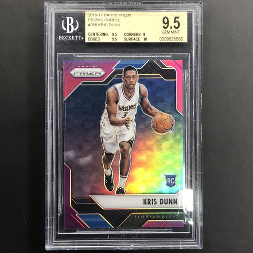 2016-17 Prizm KRIS DUNN Rookie Purple Prizm 49/75 BGS 9.5-Cherry Collectables