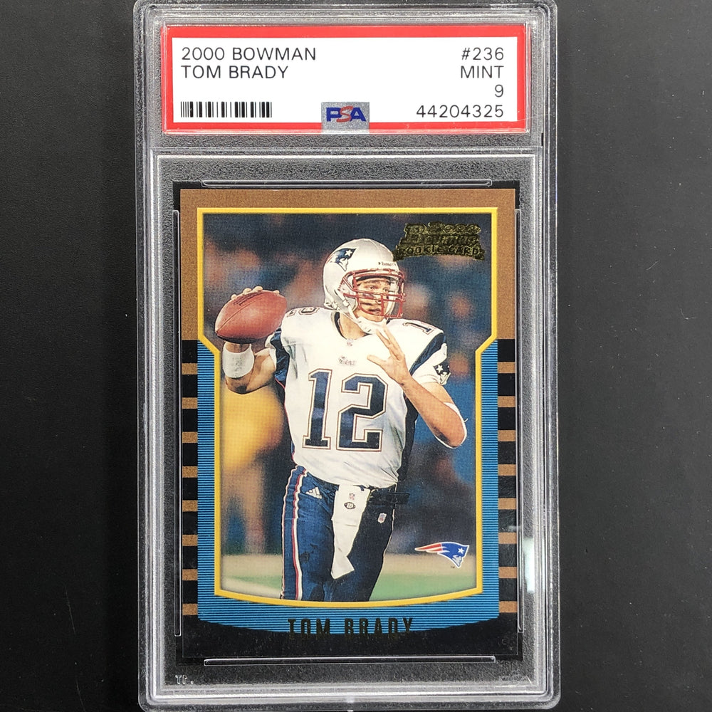 2000 Bowman TOM BRADY Rookie PSA 9 #236-Cherry Collectables