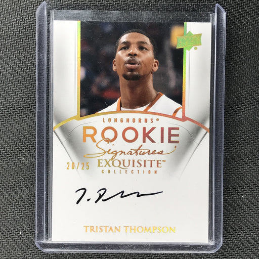 2010-11 Exquisite TRISTAN THOMPSON Rookie Auto 20/25-Cherry Collectables