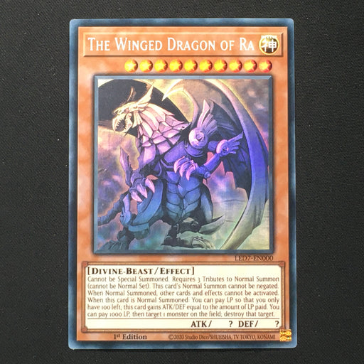 (C) GHOST RARE The Winged Dragon of Ra - LED7-EN000 Ghost Rare 1st Edition