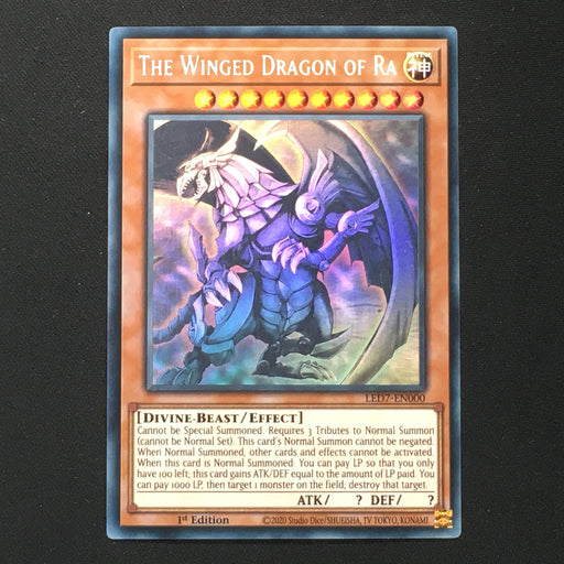 (D) GHOST RARE The Winged Dragon of Ra - LED7-EN000 Ghost Rare 1st Edition