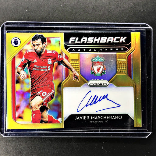 2019-20 Prizm EPL Soccer JAVIER MASCHERANO Flashback Gold Auto 2/10-Cherry Collectables