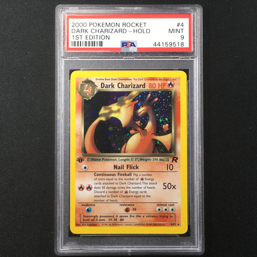 PSA 9 MINT Dark Charizard - 4/82 - Holo 1st Edition - Team Rocket-Cherry Collectables