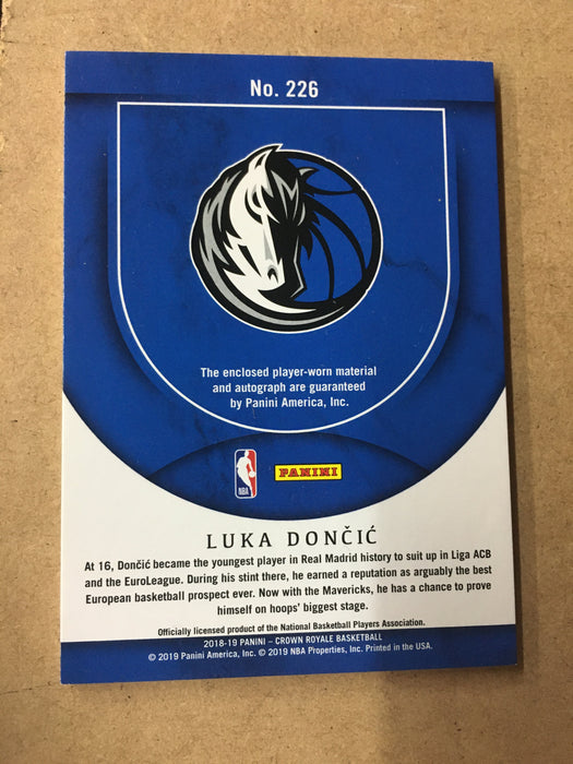 2018-19 Crown Royale LUKA DONCIC Silhouette Rookie Jersey Auto 4/199-Cherry Collectables