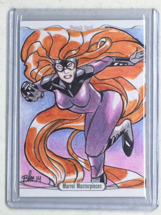 2016 Marvel Masterpieces MEGGAN Sketch by BLEE - Cherry Collectables