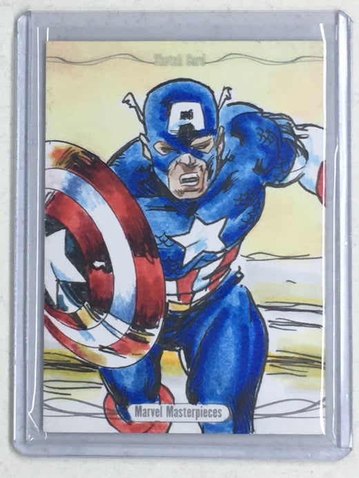 2016 Marvel Masterpieces CAPTAIN AMERICA Sketch - Cherry Collectables