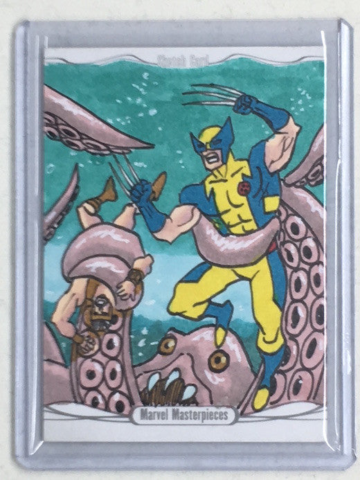 2016 Marvel Masterpieces WOLVERINE Sketch by LUI ANTONIO-Cherry Collectables