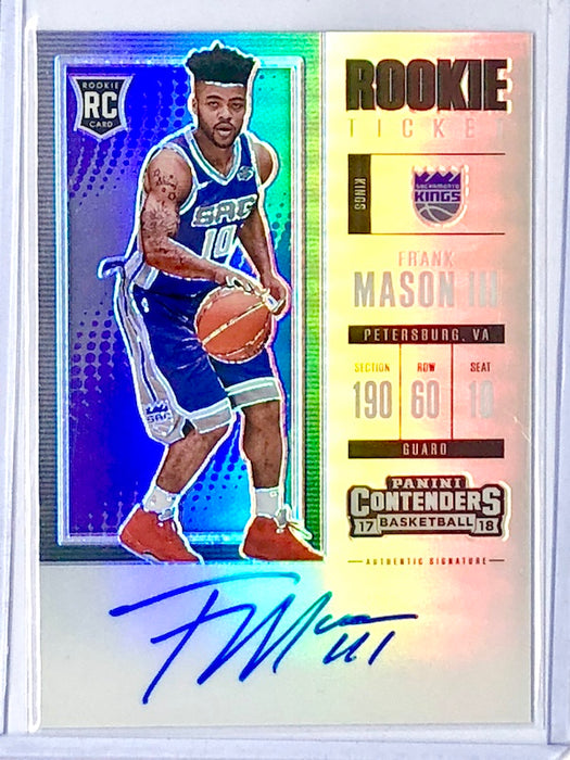 17-18 Contenders FRANK MASON III Rookie Season Ticket Premium Edition RC Auto-Cherry Collectables