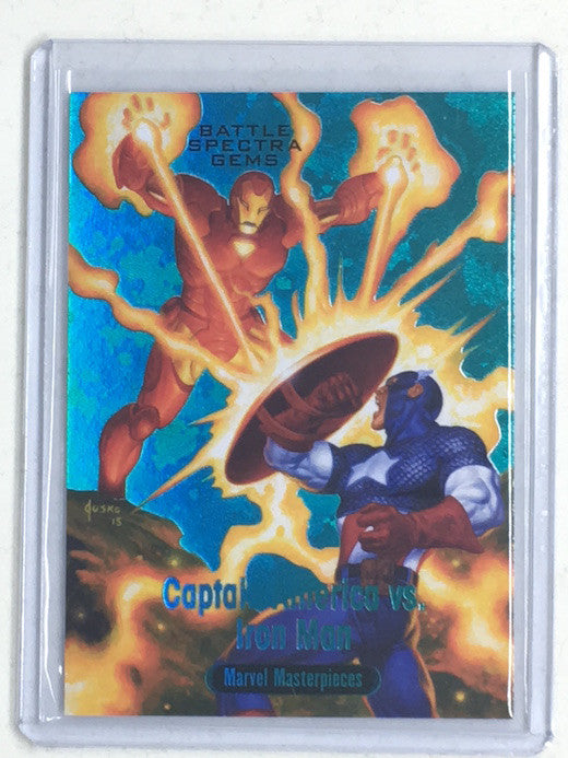 2016 Marvel Masterpieces CAPTAIN AMERICA vs IRON MAN 12/99 #BS-9-Cherry Collectables