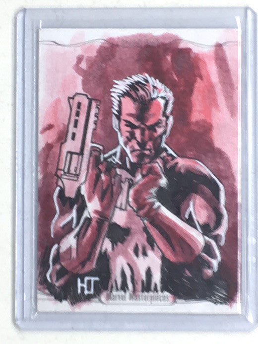 2016 Marvel Masterpieces PUNISHER Sketch by HELMUT JACOBY - Cherry Collectables