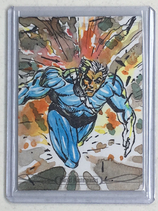 2016 Marvel Masterpieces QUICK SILVER Sketch-Cherry Collectables