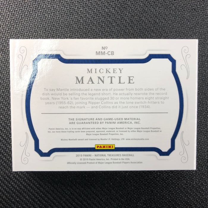2019 National Treasures MICKEY MANTLE Cut Signature Booklet Auto 6/7 GU!-Cherry Collectables