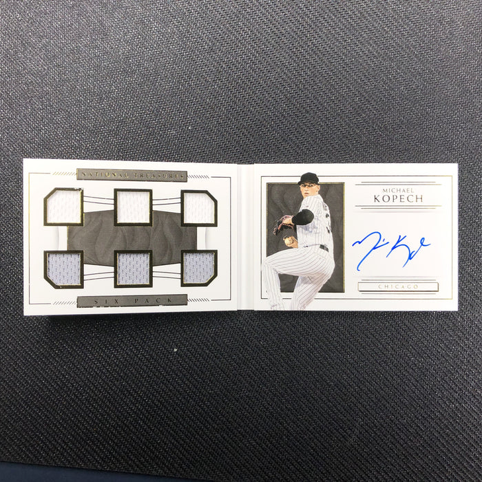 2019 National Treasures MICHAEL KOPECH Six Pack Material Signatures 46/99-Cherry Collectables