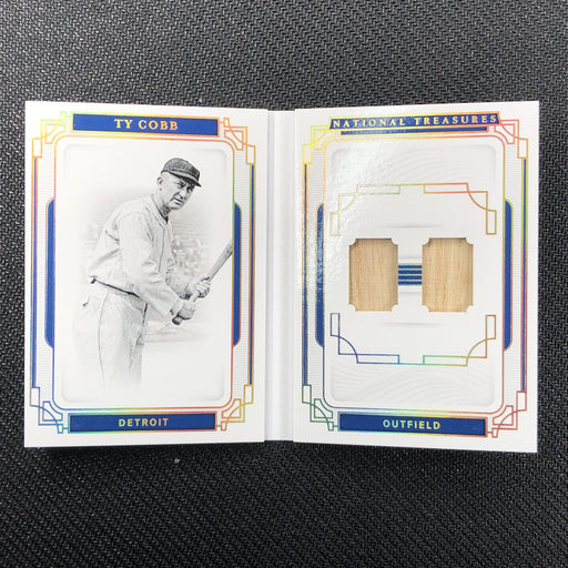 2019 National Treasures TY COBB Legends Materials Booklet 24/25-Cherry Collectables