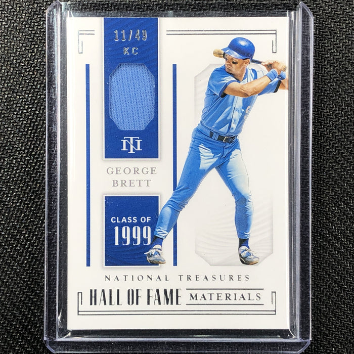 2019 National Treasures GEORGE BRETT Hall Of Fame Materials 11/49-Cherry Collectables